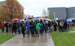 Student Upstanders Walk in the Rain to Promote Unity