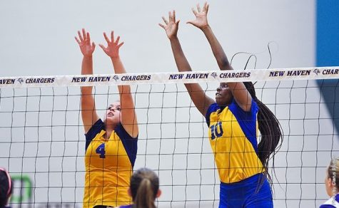Women's Volleyball Sweeps the Queens College Knights