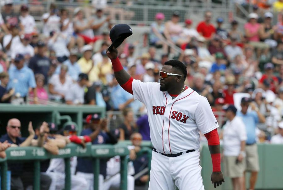 Boston+Red+Sox%27s+David+Ortiz+acknowledges+cheers+from+fans+after+being+introduced+during+a+ceremony+honoring+him+before+a+spring+training+baseball+game+against+the+Baltimore+Orioles%2C+Monday%2C+March+28%2C+2016%2C+in+Fort+Myers%2C+Fla.+Ortiz+played+his+last+spring+training+home+game+at+jetBlue+Park+Monday.+%28AP+Photo%2FTony+Gutierrez%29