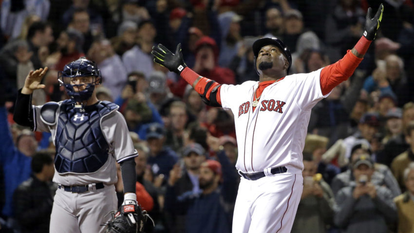 Boston+Red+Sox+designated+hitter+David+Ortiz+celebrates+his+two-run+home+run+as+New+York+Yankees+catcher+Brian+McCann+waits+during+the+eighth+inning+of+a+baseball+game+at+Fenway+Park+on+Friday%2C+April+29%2C+2016%2C+in+Boston.+The+Red+Sox+won+4-2.+%28AP+Photo%2FElise+Amendola%29