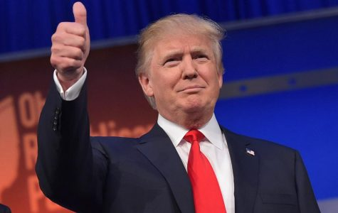 Turmoil Over Trump Banner