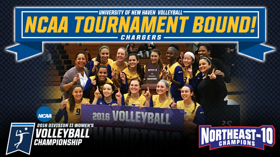 Women's Volleyball Win NE-10 Conference Championship