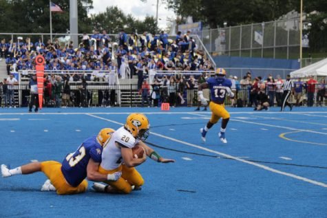 Chargers Fall in Football Home Opener
