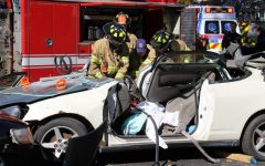 Fire Science Club Stages Mock Crash to Raise Awareness