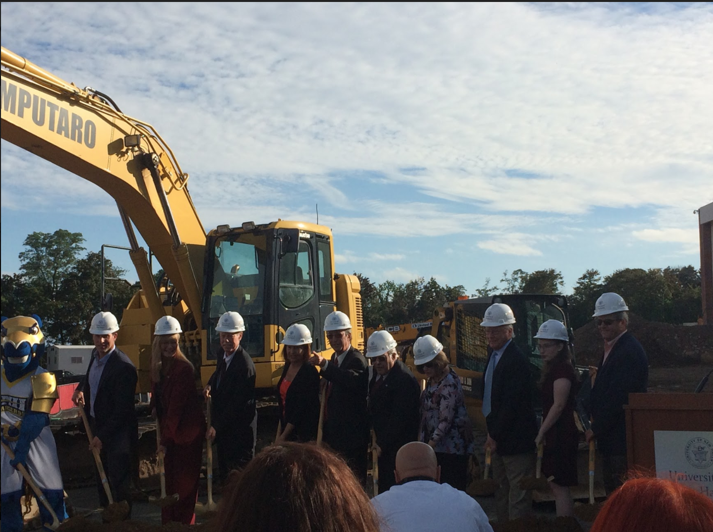 University officials, donors, and public officials gathered to break ground on the Innovation Center.