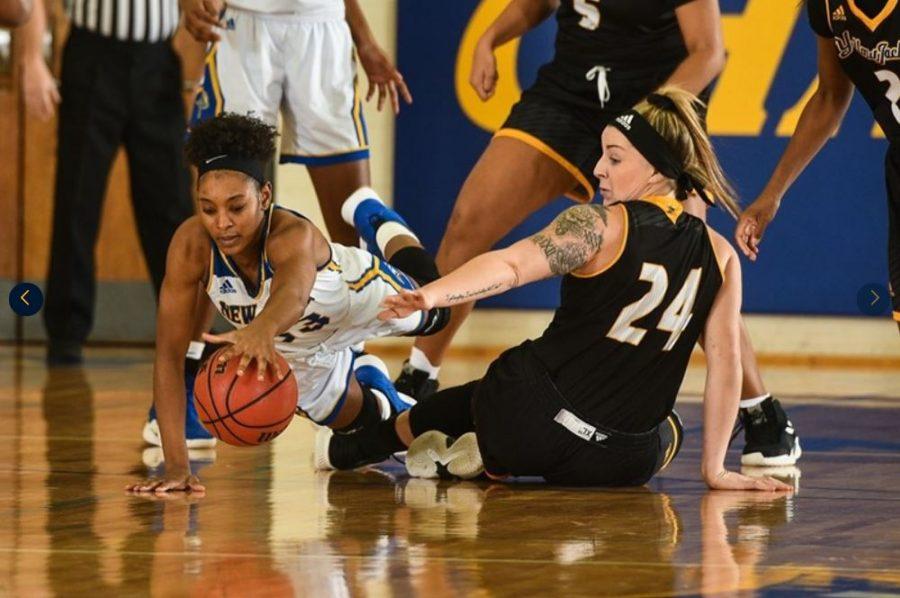 Women's basketball won their first game to start their winning streak on December 11 against American International.