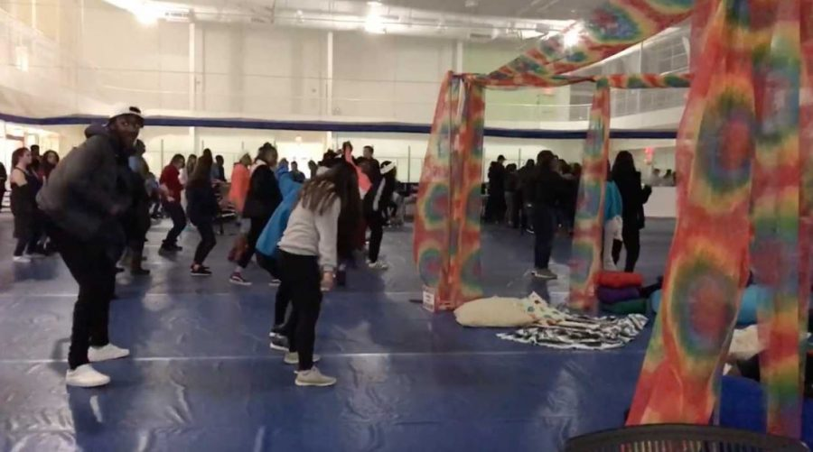 Students Rollback at Welcome Event