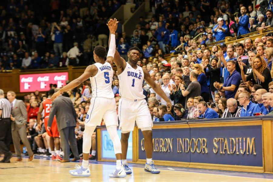 Zion+Williamson+is+one+of+Duke%27s+star+players.+