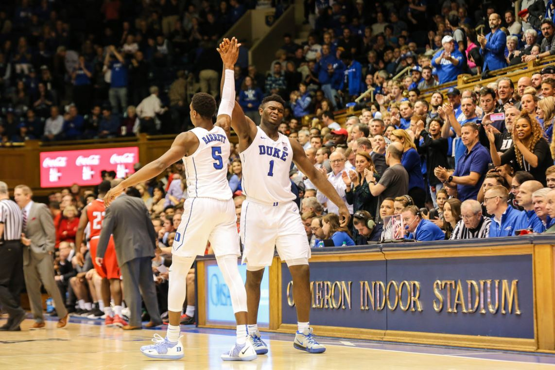 Zion Williamson is one of Duke's star players.