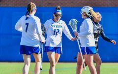 Reh Breaks Single Season Goals Record as Lacrosse Defeats Stonehill