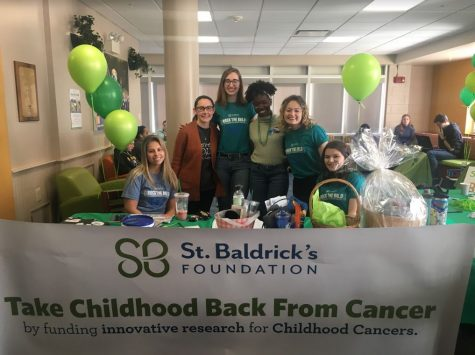 St. Baldrick's student volunteers pose for a photo.