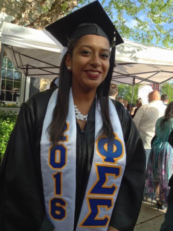 Nicolette Dammacco-Charles, at her graduation from University of New Haven in 2016.
