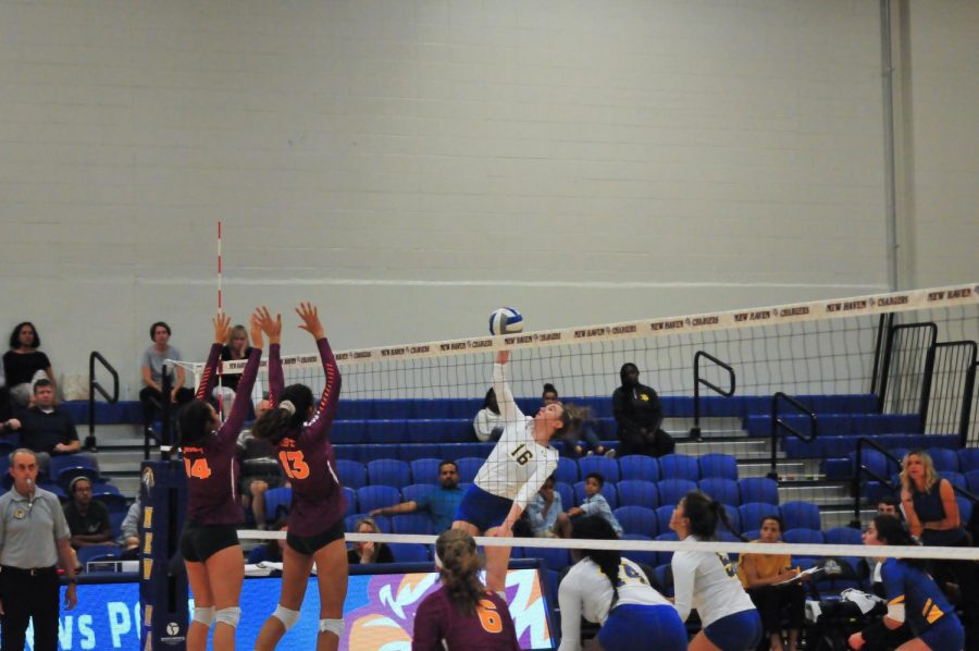 Chargers Volleyball Wins First Home Match