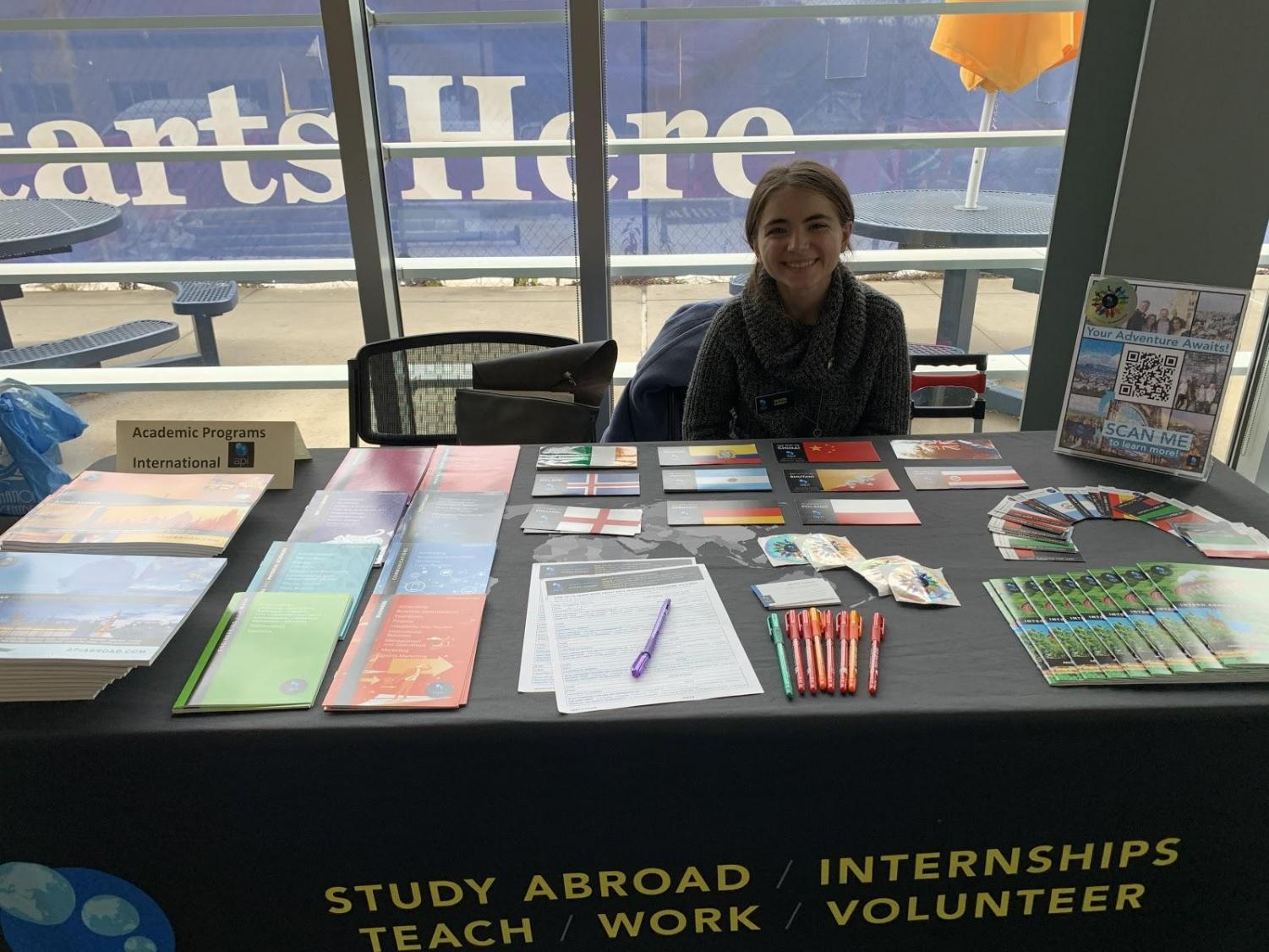 API Table at the Study Abroad Information Fair