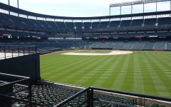 An empty baseball stadium in lieu of the delay of the MLB season due to COVID-19.