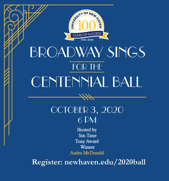 Advertisement for the University of New Haven's Centennial Ball
