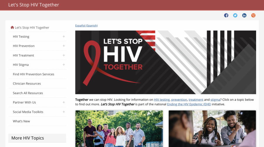CDC Lets Stop HIV Together homepage