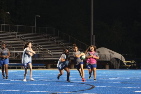 Members of the womens rugby team practice at DellaCamera Field, West Haven, Sept. 7, 2021