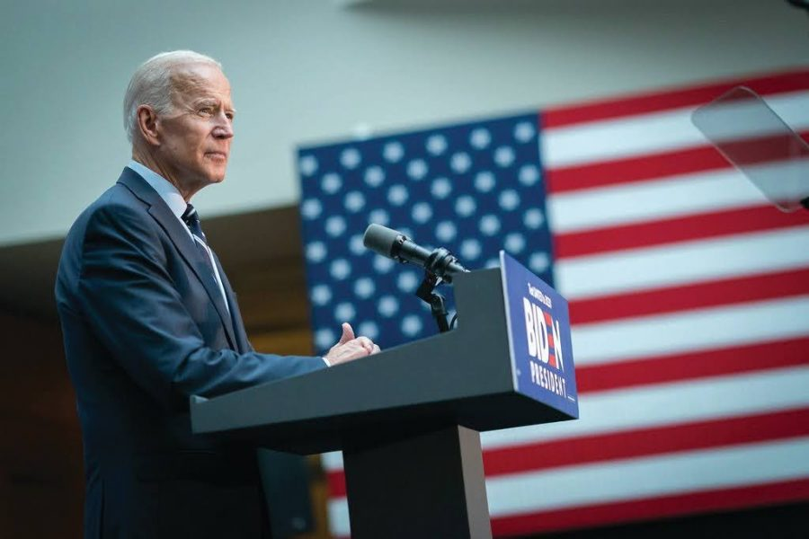 President Joseph Biden giving the CUNY Foreign Policy Speech in 2019