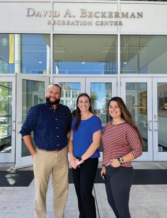 Beckerman Recreation Center Staff Steven Dradis, Jessica Scibek and Marissa Vittorio.