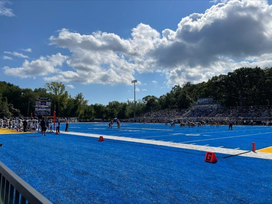 The Chargers play against the Bulldogs, West Haven, Sept. 18, 2021.