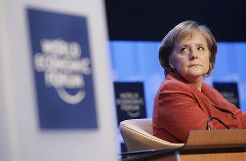 Angela Merkel at the World Economic Forum Annual Meeting, 2007.