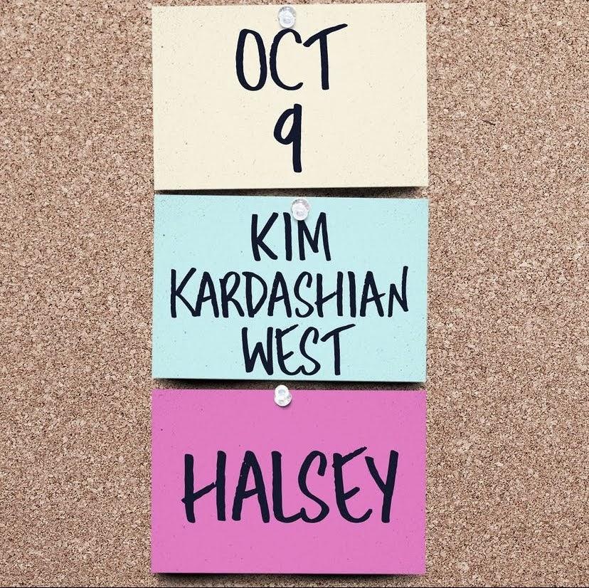 Halsey+and+Kim+Kardashian+announcement+on+SNLs+Instagram