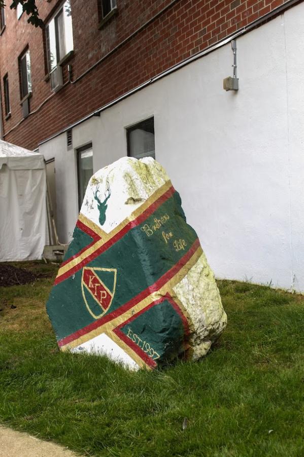 The KGR rock in the Bixler-Gerber Quad, West Haven.